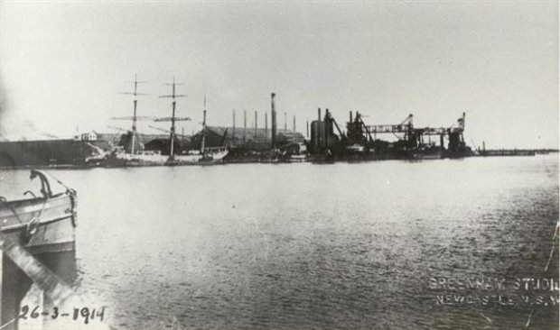 Steelworks from Walsh Island