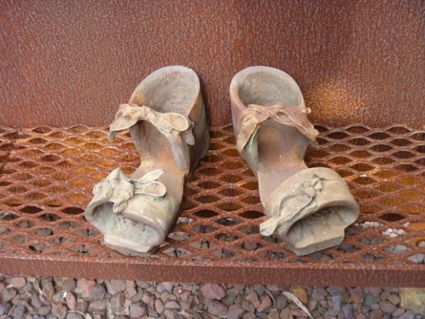 Wooden Clogs, worn on top of Coke Ovens: