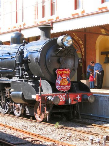 Loco 3526, displays the 150 years of The Great Northern Railway.