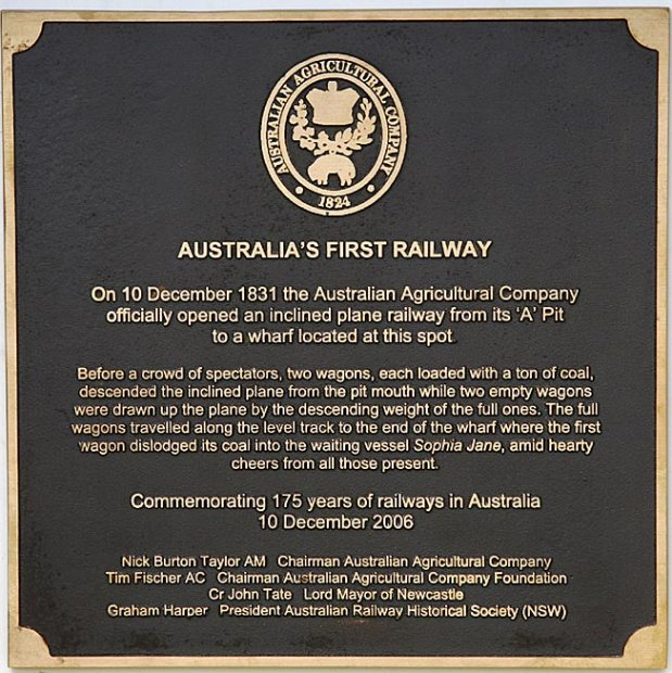 First Railway Plaque