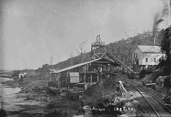 Burwood Colliery at Glenrock Lagoon. 1885.