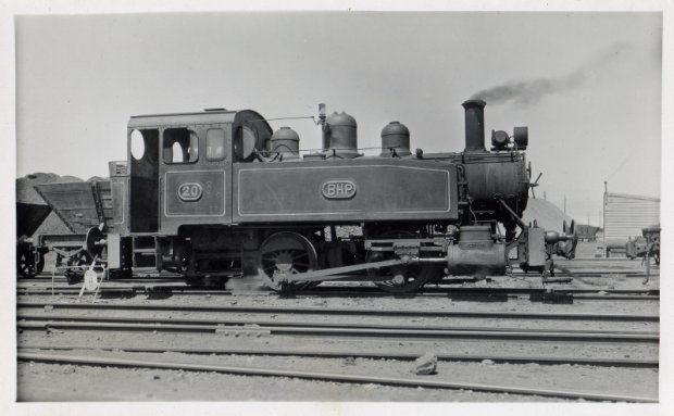 Loco 20 at Wharf with Coal Wagons. 4.3.57