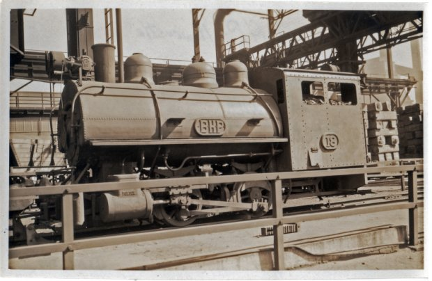 Loco 18 in the Ingot Yard. Scrapped 1966..Porter HK No6670.21 Gauge. 3'.00