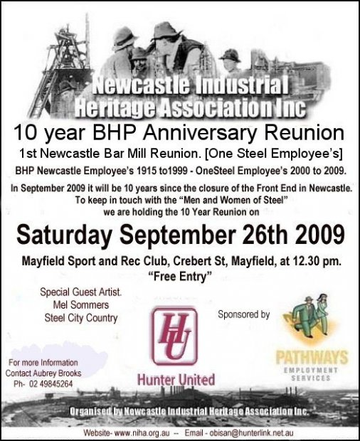 BHP Reunion 2009 Flyer