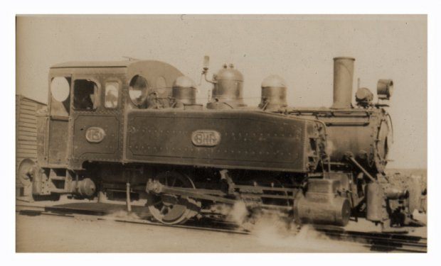 Old Steam Loco Number 13 side tracked. Scrapped 1961