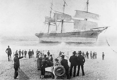 The wreck of the Susan Gilmore  1884.
