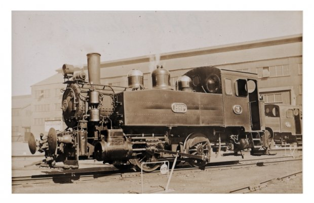 Loco Number 3 on the East main. Scrapped 1966