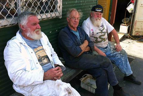 Some of the hard workers. A rare gathering of Master Paul, Engineer John and Mate Ian. Taking a short break to plan the next big tasks. What a team.  Hard Workers have a spell: