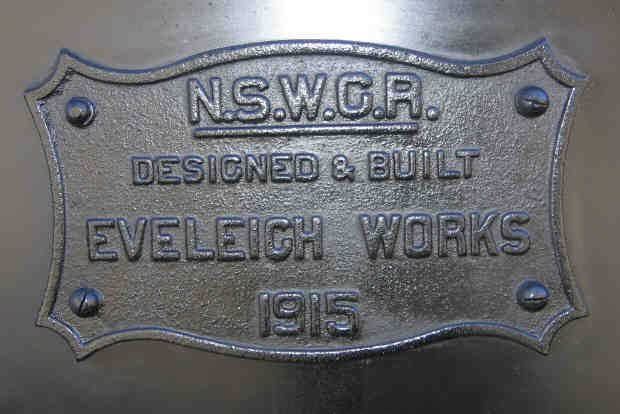 Loco 3526 name plate. Built the same year BHP opened in Newcastle.