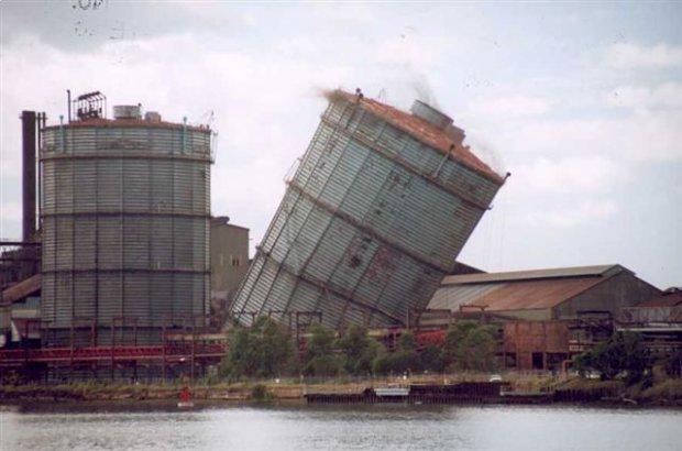 Demolition of the Blast Furnace Gas holder