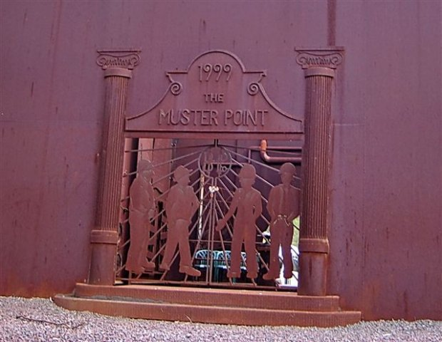 The Front Enterance Muster Point.