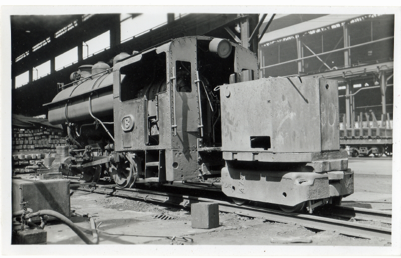 Loco Number 8 outside the Billet Yard. 9.3.1957