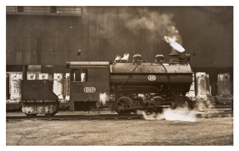Loco 30 in the Narrow gauge. 3/49 Built by BHP ...note the tender