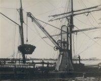 Coal Loading onto Sailing Ship