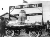 1914 - 1918 Sulphide Employees float