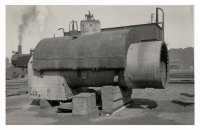 Loco Boiler waiting repairs. 1939.