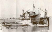 Floating Dock during WWII at the State Dockyard