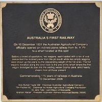 First Railway Plaque