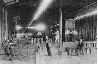 Interior view of the English and Australian Copper Company's Broadmeadow Copper Smelter.