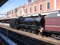 Steam Loco 3526, The Re-enactment train.
