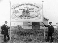 1914 - 1918 Sulphide Employees banner