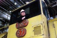 BHP Loco 57 in the Wagon Shop: