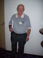 "Doug, Newcastle BHP Office, Doug is a member of Adamstown Probus Club,  this ""Man of Steel"" is 90 years old."