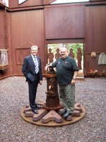 Member for Newcastle, Tim Owen visits the Muster Point.